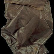 Antique silk faille iridescent Ca 1850 dolls