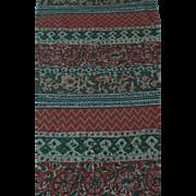 Vintage cotton roller print intense colors 4+ yards