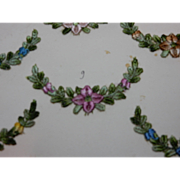 Vintage French embroidered flower applique choice of 2 (two)