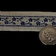 Vintage cotton blue white trim dolls
