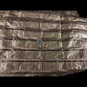 Antique Civil War stripe silk doll costuming