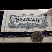 Vintage French trim navy blue  Nouveaute label