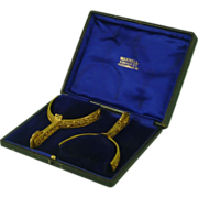 Boxed Military Dress Gilt Brass Spurs Henry Maxwell English Vintage