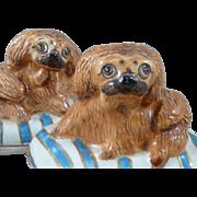 Basil Matthews Pekingese Dogs Studio Pottery Figurines