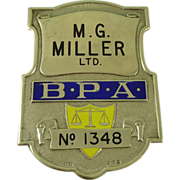 Book Makers Protection Association Miller Enamelled Silver Shield 1937