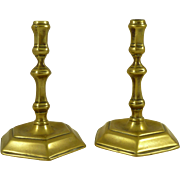 Pair Georgian Style Tapersticks Antique