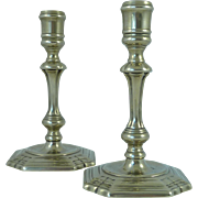 Pair of Georgian Paktong Candlesticks