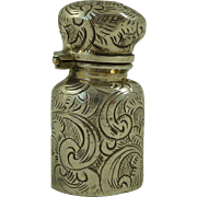 Victorian Engraved Silver Perfume Bottle