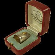 George V 1911 Coronation Silver Thimble Goldsmiths & Silversmiths Boxed Antique