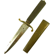 Original Small French Napoleonic Naval Officer's Ebony Hilted Dirk Knife Dagger
