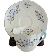 Shelley Dainty Blue Rock Cup & Saucer