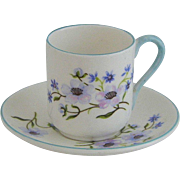 Shelley Blue Rock Canterbury Miniature Cup & Saucer