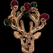 Vintage 1950's - 1960's Signed MYLY Reindeer Brooch