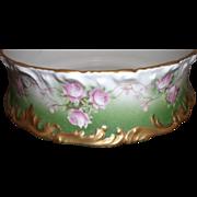 Vintage T&V Limoges Fernier - Pink Roses w / Gold - Mint
