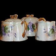 Vintage Bavarian Tea set - Hand-painted Violets