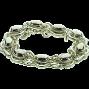 SALE 925Silver Georg Jensen Denmark Danish Sterling Silver Beaded Scarab Like Link Bracelet 7