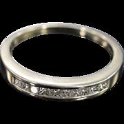 SALE 14K 0.60 CTW G/VS Princess Cut Diamond Channel Set Wedding Band Ring ...