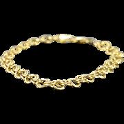 "SALE 14K Link Charm Bracelet 8"" Yellow Gold"