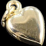 SALE 14K Puffy Heart Charm/Pendant Yellow Gold