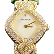 SALE Delance Swiss 1.00 CTW Diamond Encrusted w/ Extra Band