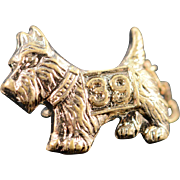 SALE 10K Yorkshire Terrier Pin/Brooch Yellow Gold