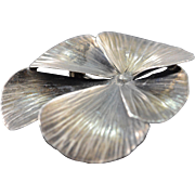 SALE Sterling Silver Stuart Nye Vintage Pansy Pin/Brooch