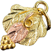 SALE 10K Leaf Black Hills Gold Charm/Pendant Yellow Gold