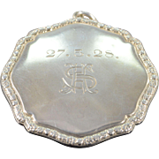 REDUCED Sterling Silver Antique Mirror Compact Pendant