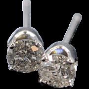 SALE 14K 0.50 CTW I/I2 Diamond Stud Earrings White Gold