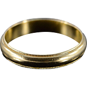 14K 4mm Milgrain Wedding Band Ring Size 9.75 Yellow Gold
