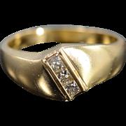 SALE 14K 0.40 CTW Princess Cut Diamond Men's Wedding BandBling Ring Size 12 ...