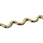 """14K Wavy Link Necklace 16.5"""" Yellow Gold"""