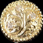 SALE 14K 0.10 CTW Diamond Flower Slide Bracelet Charm/Pendant Yellow Gold