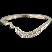 SALE 14K 0.05 CTW Diamond Engagement Wrap Band Ring Size 5.25 White Gold