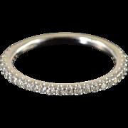 SALE 14K 0.20 CTW Prong Set Diamond Wedding Band Ring Size 5.5 White ...