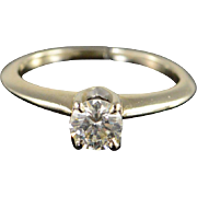 SALE 14K 0.50 CT Diamond Solitaire Engagement Ring Size 4.75 White Gold