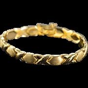 "SALE 14K Hugs & Kisses Link Bracelet 7"" Yellow Gold"