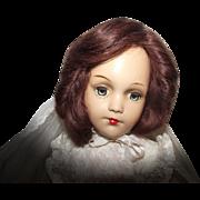"Stunning Vintage Composition Arranbee R & B ""Debu'teen Doll"" In Wedding Gown 18"""