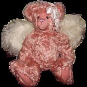 "Darling OOAK Pink Mohair Teddy Bear ""CASAUDRA"" 15"""