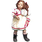 "Annette Himstedt Gorgeous ""Deta"" Switzerland Girl In Original Box & COA 26"""