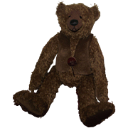 "Adorable 15"" Brown Mohair Teddy Bear, Loud Growler Artist Treva of Brown Shop Bears"
