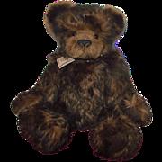 """SALE Wonderful Large 20"""" Brown Mohair Teddy Bear """"Zachary"""" Cameo Bears Artist M"""