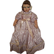 "Beautiful Vintage Cloth, Mask Face Rag Doll, 15"" Circa 1940's"