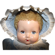 SOLD Absolutely adorable Effanbee Sweetie Pie Doll In Original Outfit Circa 1942