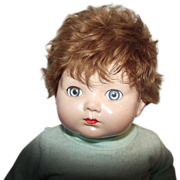 """SOLD Vintage Effanbee Composition & Cloth Flirty Eyes """"Baby Bright Eyes"""" With A"""