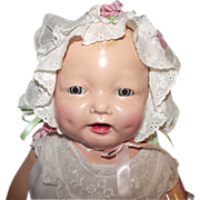 """SOLD Gorgeous Vintage Effanbee Very Large """"Bubbles Doll"""" In Rare Tag Outfit 24"""""""