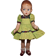 """Effenbee Vintage All Composition """"LITTLE GIRL DOLL"""" 9.5"""" Tall Circa 1933"""