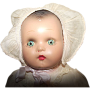 "Vintage Composition Horsman Baby Doll With Original Tag And Original Outfit 15"" Circa 191"