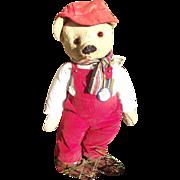 """Adorable Antique large  20"""" OPEN/CLOSE mouth Mohair Bear Circa 1900's"""