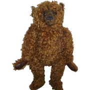 "SOLD Adorable Long Snout 20"" Vintage Murphy Aged Tipped Mohair Bear"